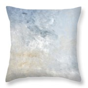 Gathered - Grey And Beige Abstract Art Painting Throw Pillow