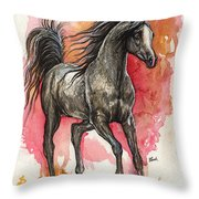 Grey Arabian Horse 2014 01 12 Throw Pillow
