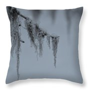 Grey Beard Throw Pillow