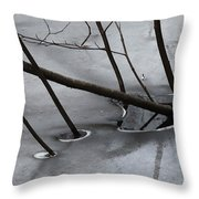 Grey Days Of November Throw Pillow
