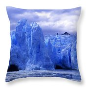 Grey Glacier Patagonia Chile Throw Pillow
