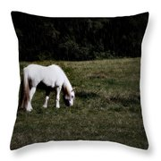 Grey In The Pasture Throw Pillow