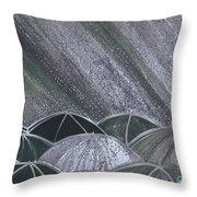 Grey Rain 2 By Jrr Throw Pillow