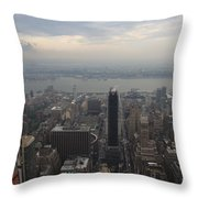 Grey Sky Over Manhattan Throw Pillow