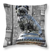 Greyfriars Bobby Throw Pillow