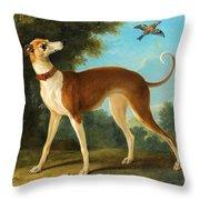 Greyhound In A Landscape Throw Pillow