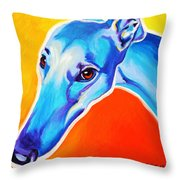 Greyhound - Lizzie Throw Pillow by Alicia VanNoy Call