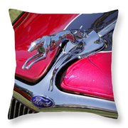 Greyhound On A Ford Throw Pillow