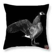 Greyscale Canada Goose Pop Art - 7585 - Bb  Throw Pillow