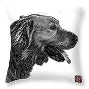 Greyscale Golden Retriever - 4047 Fs Throw Pillow