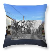 Greystone Avenue In North Providence Rhode Island Throw Pillow