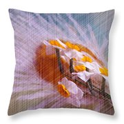 Grid Above Flowers Throw Pillow