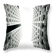 Grids Lines And Glass Structure - Google London Offices Throw Pillow