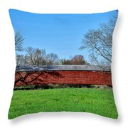 Griesemers Mill Covered Bridge Berks County Pennsylvania Throw Pillow