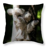 Angel Hug Throw Pillow
