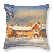 Griffin House School - Snowy Day Throw Pillow