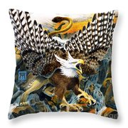 Griffin In Waterfall Throw Pillow