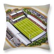 Griffin Park - Brentford Fc Throw Pillow