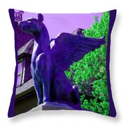 Griffin Purple Throw Pillow