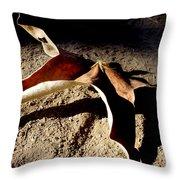 Griffith Park Fall Leaf Throw Pillow