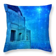 Griffith Park Observatory At Night Throw Pillow