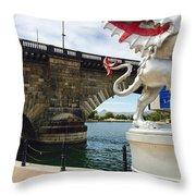 Griffin Charms The London Bridge Throw Pillow