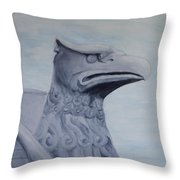 Griffon Statue Throw Pillow