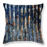 Grill Abstract Throw Pillow