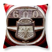 Grill Logo Detail - 1950s-vintage Ford 601 Workmaster Tractor Throw Pillow