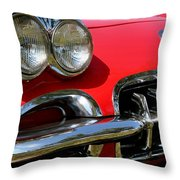 Grille On A 1960 Corvette Throw Pillow