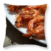 Grilled Crustacean 2 Throw Pillow