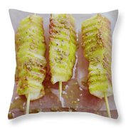 Grilled Haloumi Skewers Throw Pillow
