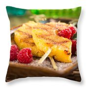 Grilled Pineapple  Throw Pillow