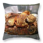 Grilled Pirana Throw Pillow