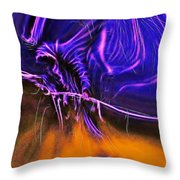 Grim Reaper In Abstract Throw Pillow
