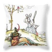 Grimm: Wolf And Seven Kids Throw Pillow