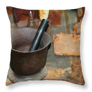 Grinding Bowl  Throw Pillow