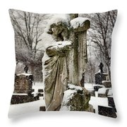 Grip Of Winter Throw Pillow