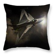 Gripen Light Throw Pillow