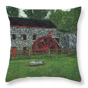 Grist Mill At Wayside Inn Throw Pillow