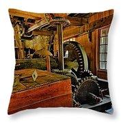 Grist Mill Gears Throw Pillow