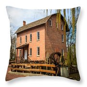 Grist Mill In Deep River County Park Throw Pillow
