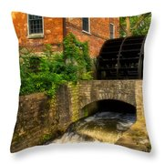 Grist Mill Throw Pillow by Thomas Woolworth