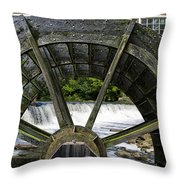 Grist Mill Wheel With Spillway Throw Pillow