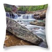 Gristmill At The Creek Throw Pillow