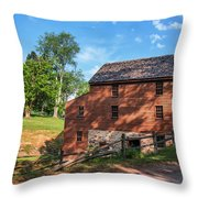 Gristmill At The Farmstead Throw Pillow