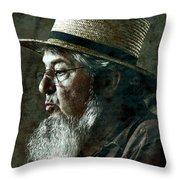 Gritty Farmer Throw Pillow