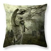Dark And Gritty Fog Throw Pillow