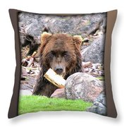 Grizzly Bear 01 Throw Pillow