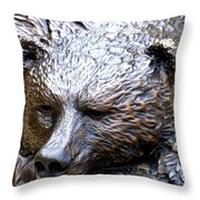 Grizzly Throw Pillow